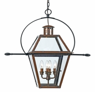 Quoizel RO1914AC Rue De Royal Extra Large Lantern Copper Outdoor Ceiling Light Fixture
