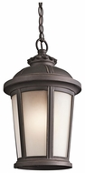 Kichler 49412RZ Ralston Traditional Rubbed Bronze Exterior Pendant Light Fixture