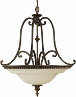 Feiss F2222-4WAL Drawing Room 27 inch diameter Amber and Walnut Ceiling Light