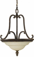 Feiss F2223-2WAL Drawing Room 17 inch diameter Amber and Walnut Duo Semi-flush Mount or Ceiling Light