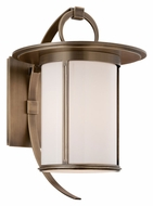 Troy BF3243 Wright Fluorescent 16 Inch Tall Opal Glass Transitional Outdoor Wall Light - Brass