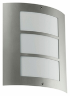 EGLO 88139A City Contemporary Stainless Steel 10 Inch Tall Outdoor Wall Lamp