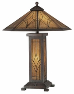 Lite Source LSC41014 Odessa Craftsman Table Lamp in Dark Bronze