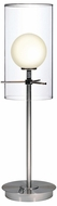 Lite Source LS2149-PS-FRO (OVERSTOCK SALE) Burst Table Lamp in Polished Steel & White