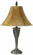 Lite Source LS3880 (OVERSTOCK SALE) Gotham Table Lamp in Dark Bronze & Faux Leather Shade