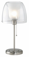 Lite Source LS3955-PS-FRO (OVERSTOCK SALE) Helmut Table Lamp in Frost Inner Glass