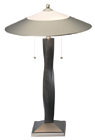 Lite Source LS3629-SS-DWAL Mammoth II Dark Walnut Wooden Table Lamp