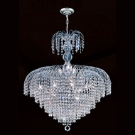 Worldwide W83031C24 Empire Medium Chrome 20 Inch Diameter Hanging Chandelier - 14 Lamps