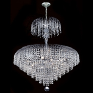 Worldwide W83031C30 Empire 30 Inch Diameter Chrome Large Crystal Chandelier