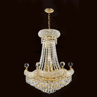 Worldwide W83074G20 Empire Gold Finish 20 Inch Diameter Small Crystal Chandelier