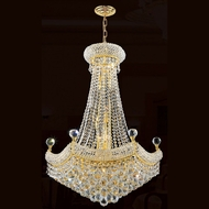 Worldwide W83074G24 Empire Medium Crystal 24 Inch Diameter Gold Chandelier Light