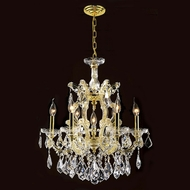 Worldwide W83075G22 Empire 22 Inch Diameter 7 Candle Lighting Chandelier - Gold