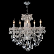 Worldwide W83089C25 Olde World 5 Candle Chrome Finish 25 Inch Diameter Chandelier Lighting
