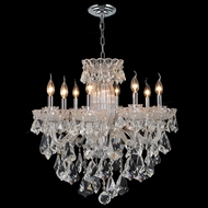 Worldwide W83091C25 Olde World Crystal Chrome Finish 8 Candle Lighting Chandelier - Medium