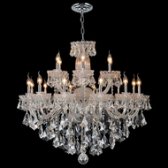 Worldwide W83093C39 Olde World Large 18 Candle 39 Inch Diameter Chandelier Light Fixture