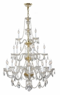 Worldwide W83099G38 Provence Gold Finish 21 Candle 2 Tier Hanging Chandelier