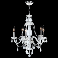 Worldwide W83101C25-WH Provence 25 Inch Diameter White Crystal Chandelier Lighting