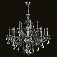 Worldwide W83101C35-CH Provence Chrome 35 Inch Diameter 15 Candle Chandelier