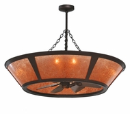 Meyda Tiffany 110072 Van Erp Amber Mica Chandel-Air Ceiling Fan Chandelier Combination