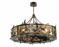 Meyda Tiffany 110240 Lady Slipper Chandel-Air 45 Inch Diameter Ceiling Fan Chandelier Combination