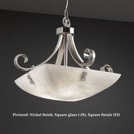 Justice Design CLD-9741 Scrolls Cloud Glass 24 Inch Diameter Small Pendant Lighting