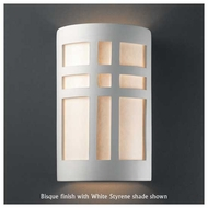 Justice Design 7295 Ambiance Large Open-Top Cross Window Wall Sconce