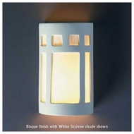 Justice Design 7345 Ambiance Small Open-Top Prairie Window Wall Sconce