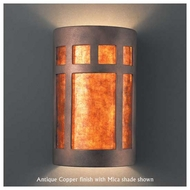 Justice Design 7355 Ambiance Large Open-Top Prairie Window Wall Sconce