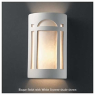 Justice Design 7385 Ambiance Small Open-Top Arch Window Wall Sconce