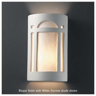 Justice Design 7395 Ambiance Large Open-Top Arch Window Wall Sconce