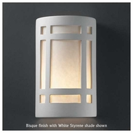 Justice Design 7485 Ambiance Small Craftsman Window Wall Sconce, Open Top