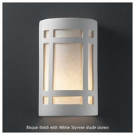Justice Design 7495 Ambiance Large Craftsman Window Wall Sconce, Open Top