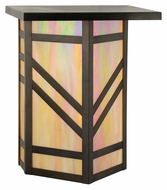 Meyda Tiffany 115370 Santa Fe 16 Inch Tall Craftsman Style Outdoor Wall Light