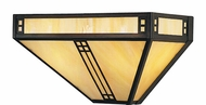 Arroyo Craftsman PS-12 Prairie Craftsman Wall Sconce - 12 inches wide