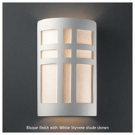 Justice Design 7285 Ambiance Small Open-Top Cross Window Wall Sconce