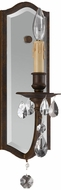 Feiss WB1332ATS Salon MA Maison 1 Light Wall Sconce Lighting Fixture with Mirror