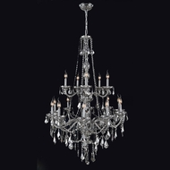 Worldwide W83107C33-CH Provence Chrome 52 Inch Tall Crystal Candle Chandelier Light