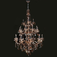 Worldwide W83108C43-AM Provence Amber Crystal 25 Candle 68 Inch Tall Lighting Chandelier
