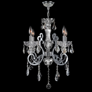 Worldwide W83109C20-CL Kronos Clear Crystal 20 Inch Diameter Mini Chandelier Lamp - 4 Candles