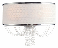 Crystorama 9802-CH Allure 14 Inch Wide Polished Chrome Crystal Wall Sconce Lighting