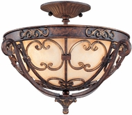 Troy C1102VB La Paloma 21.5 inchesW Filigree Iron Wall Semi-flush Mount Lighting Fixture