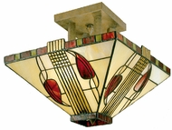 Dale Tiffany 2726-2-LTF Mission 2 Light Semi Flush Tiffany Fixture