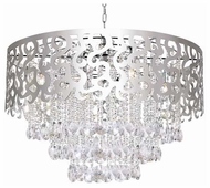 Trans Globe MDN695 Laser Cut Crystal 8-Light Chandelier