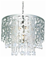 Trans Globe MDN694 Laser Cut Crystal 5-Light Chandelier