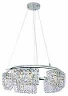 Trans Globe MDN825 Square Crystal 10-Light Halogen Chandelier