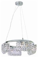 Trans Globe MDN826 Square Crystal 8-Light Halogen Chandelier