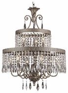 Trans Globe 8396 Rhett Crystal 9-Light Chandelier