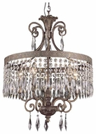 Trans Globe 8395 Rhett Crystal 5-Light Chandelier