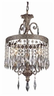 Trans Globe 8394 Rhett Crystal 3-Light Mini Chandelier