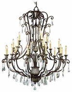 Trans Globe 3961 Crystal Fair 21-light Traditional Chandelier